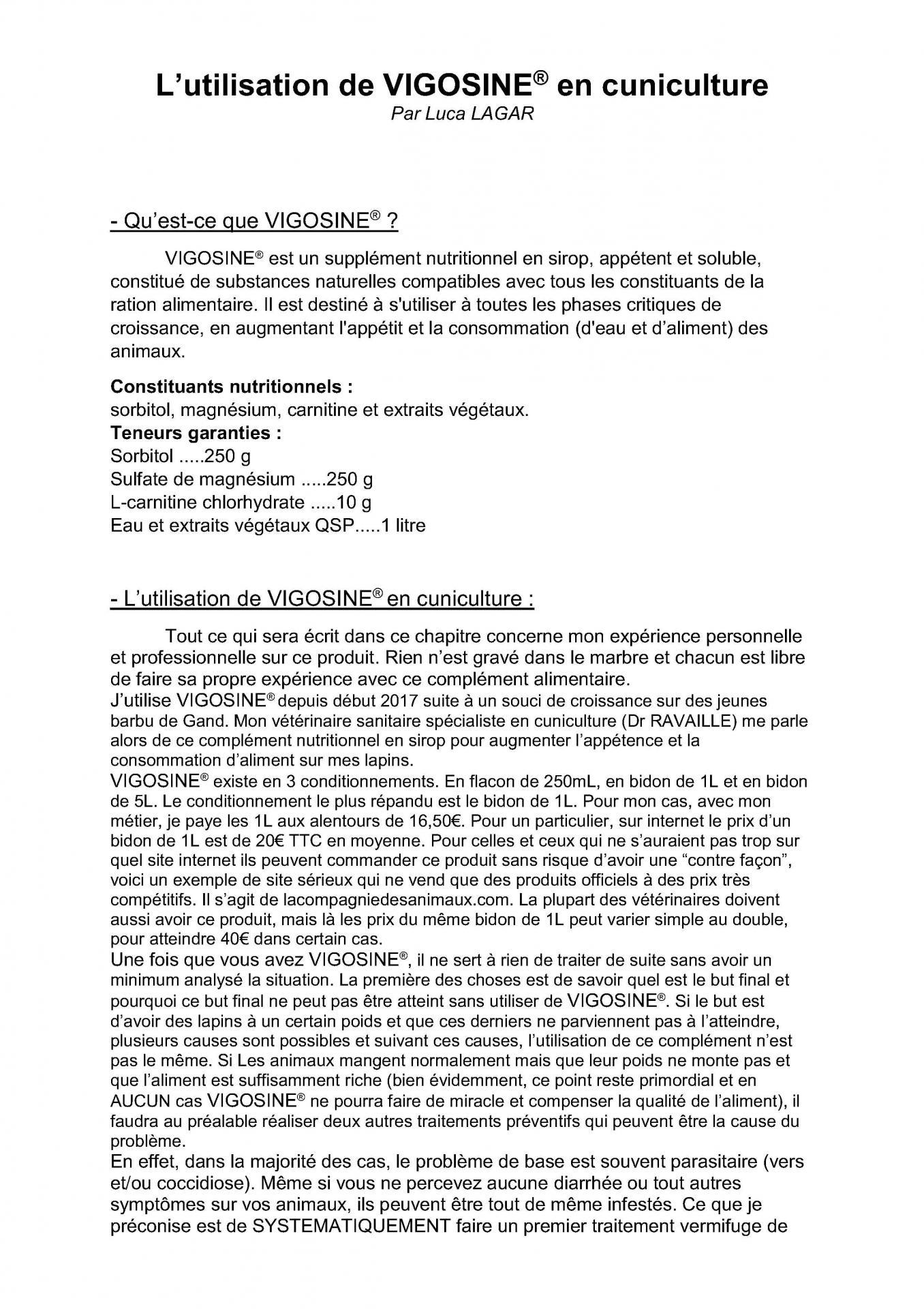 Article vigosine 1
