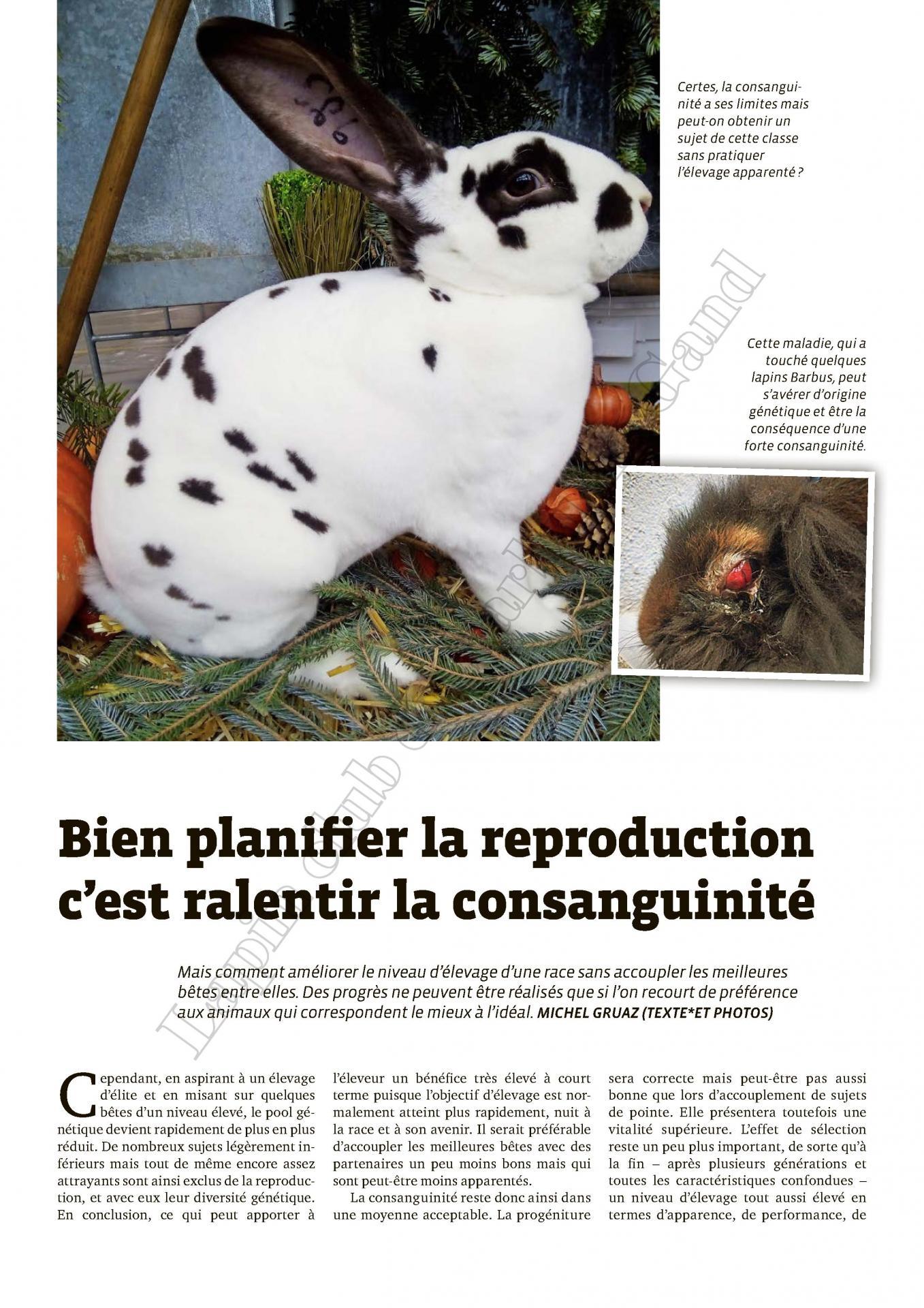 Bien planifier la reproduction c est ralentir la consanguinite 1