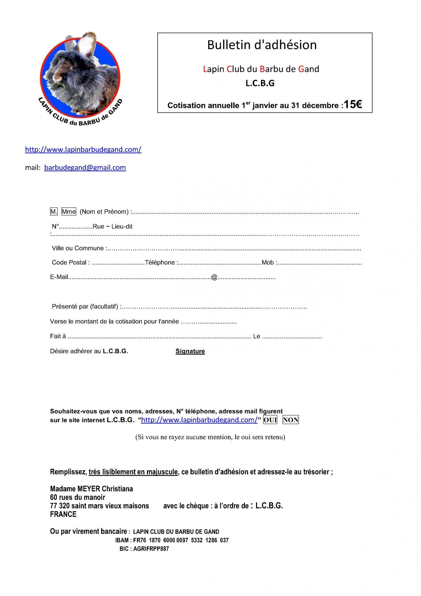 Bulletin adhesion france au lcbg 1