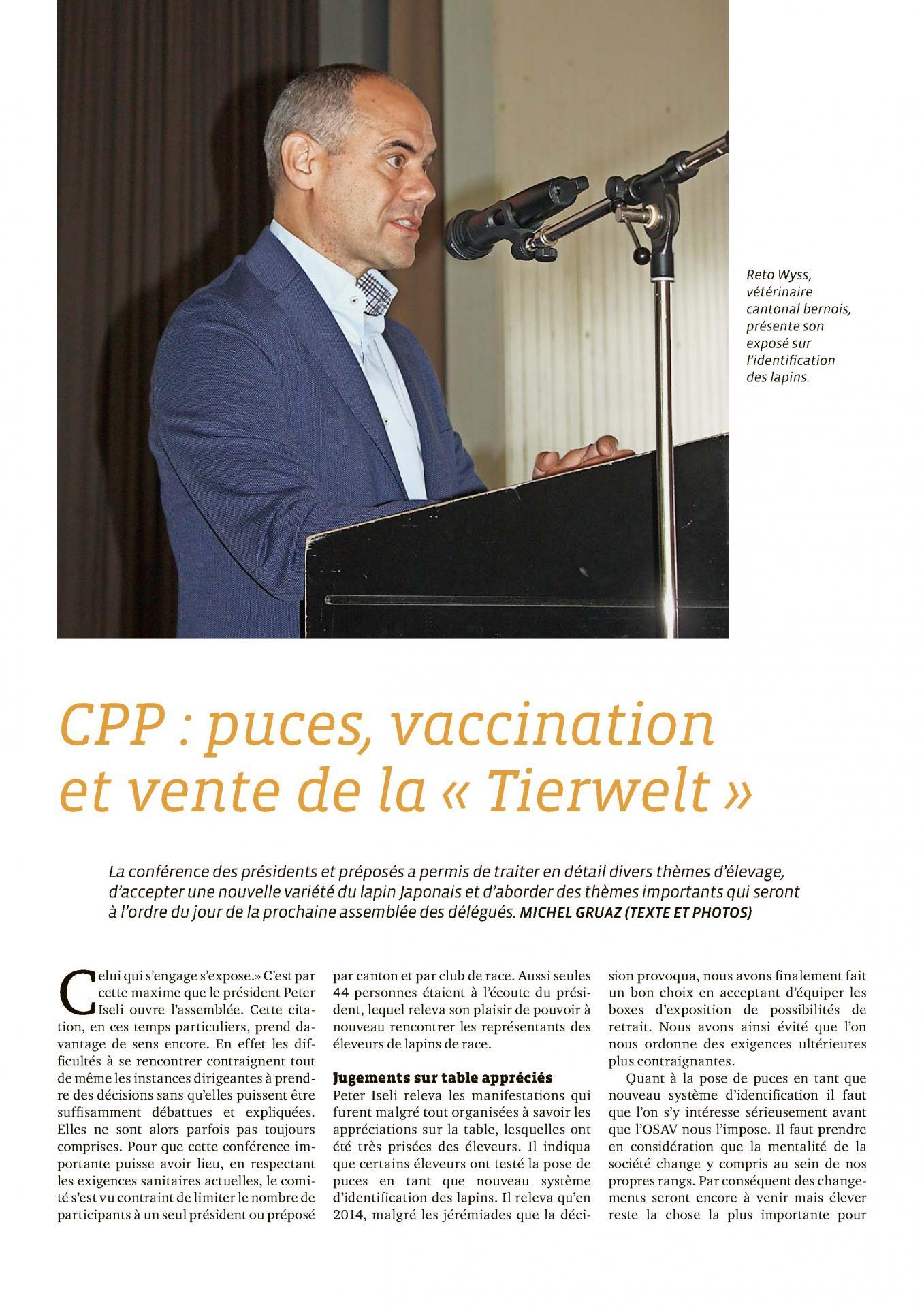 Puces vaccination et vente de la tierwelt 1